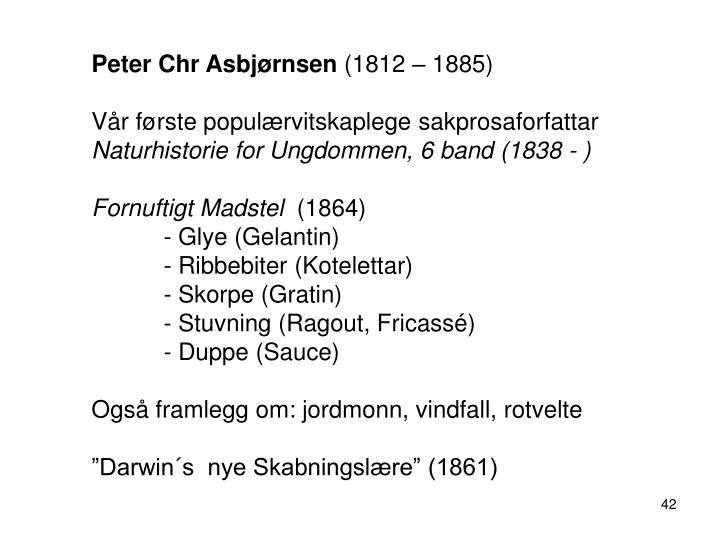 Peter Chr Asbjørnsen