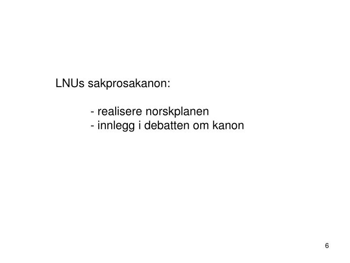 LNUs sakprosakanon: