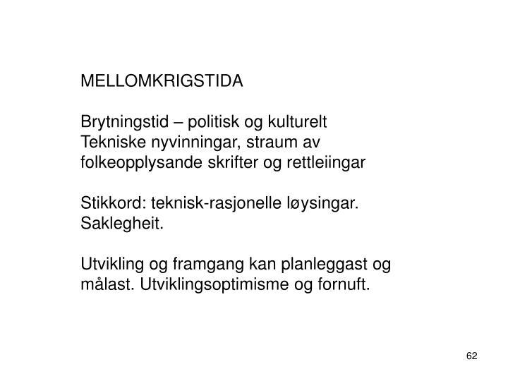MELLOMKRIGSTIDA