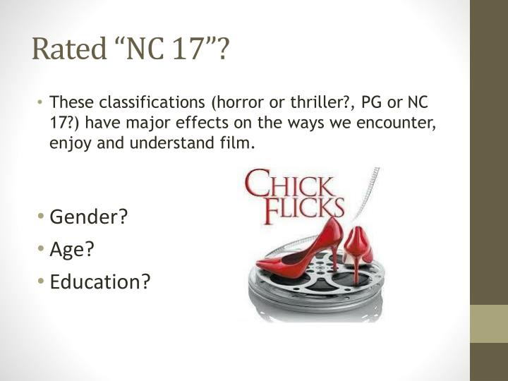 """Rated """"NC 17""""?"""