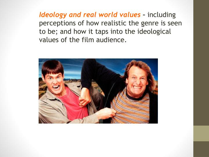 Ideology and real world values