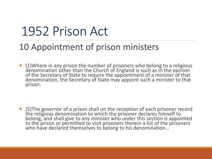 1952 Prison Act