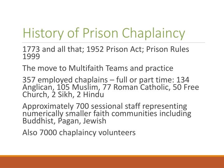 History of prison chaplaincy
