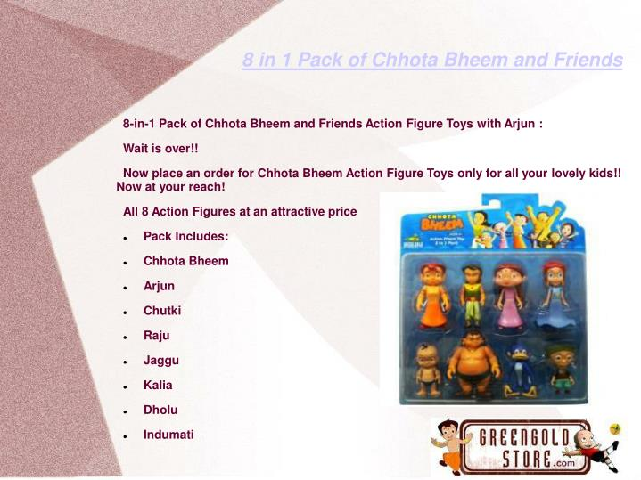 8 in 1 pack of chhota bheem and friends