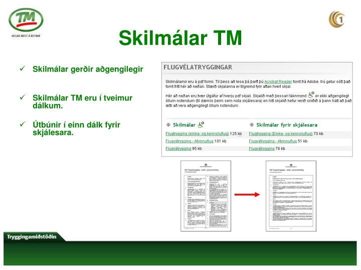 Skilmálar TM