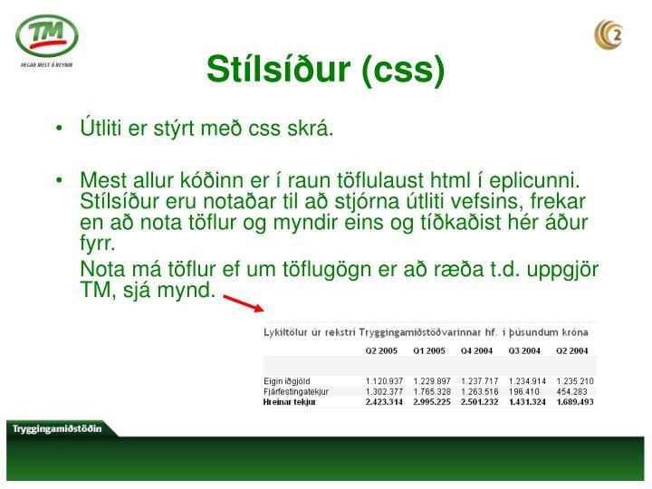 Stílsíður (css)