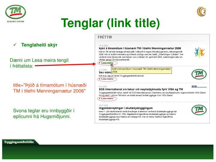 Tenglar (link title)