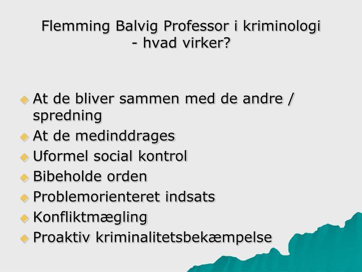 Flemming Balvig Professor i kriminologi