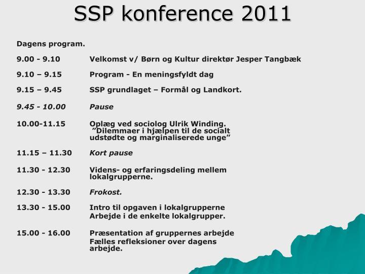 SSP konference 2011