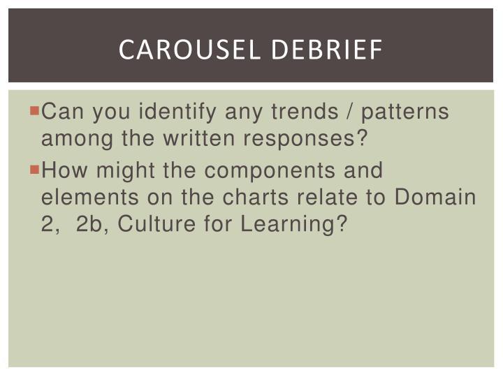 Carousel Debrief