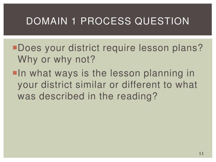 Domain 1 Process Question