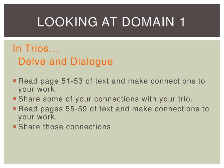 Looking at Domain