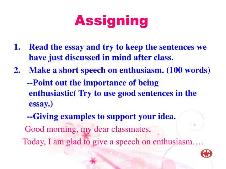 Assigning