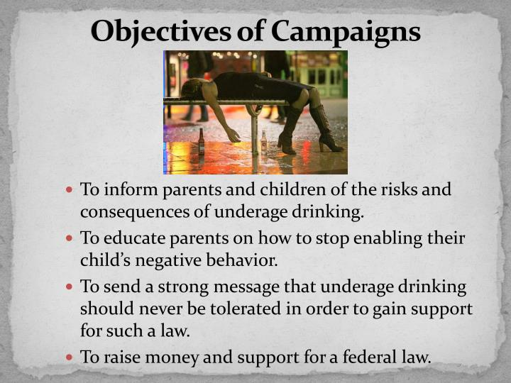 Objectives of Campaigns