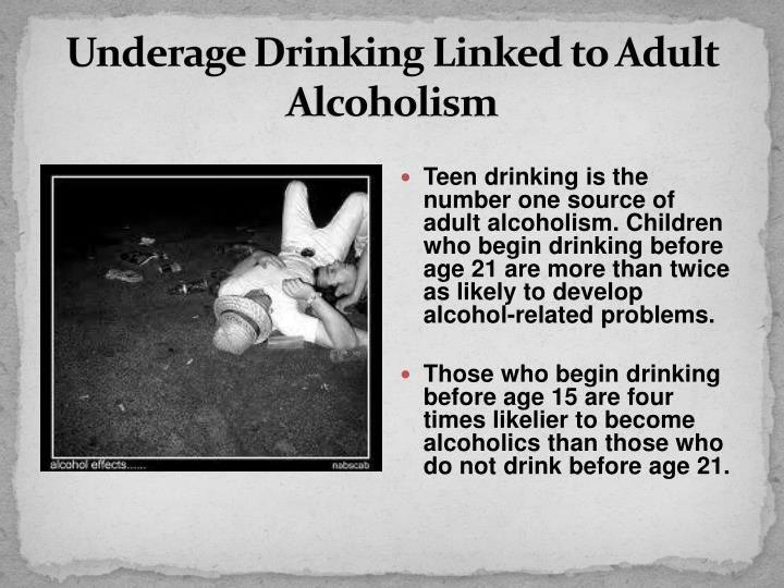 Underage Drinking Linked to Adult Alcoholism