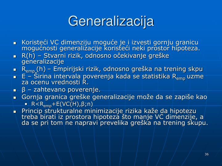 Generalizacija