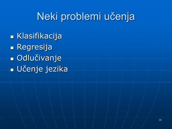 Neki problemi učenja