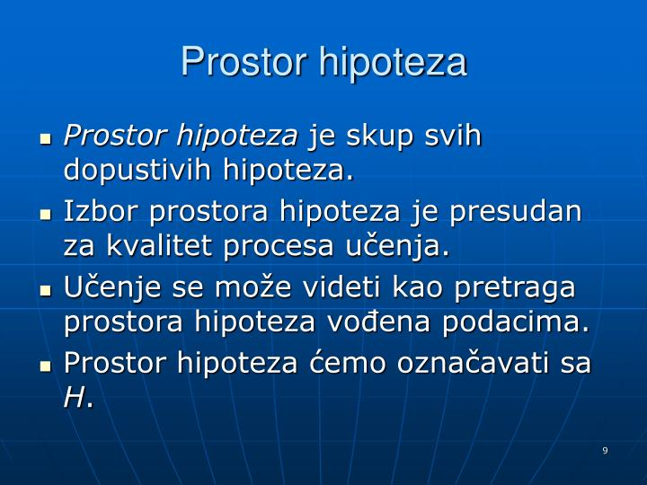 Prostor hipoteza