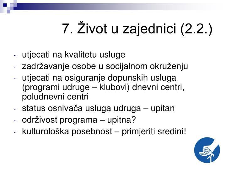 7. Život u zajednici (2.2.)