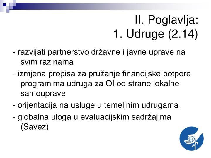 II. Poglavlja: