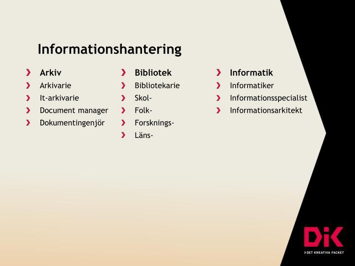 Informationshantering