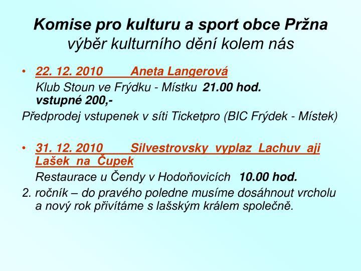 Komise pro kulturu a sport obce Pržna