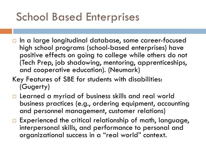 School Based Enterprises
