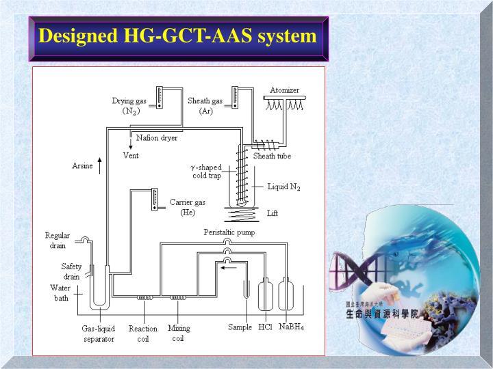 Designed HG-GCT-AAS system