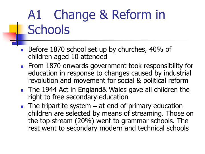 A1   Change & Reform in Schools
