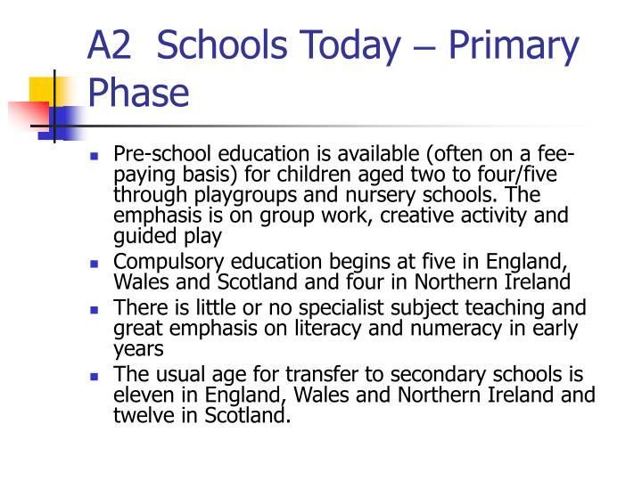 A2  Schools Today
