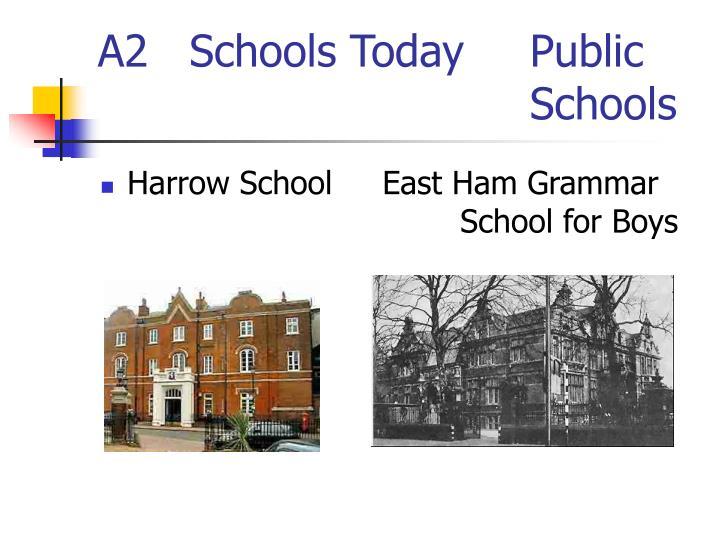 A2   Schools Today  Public Schools