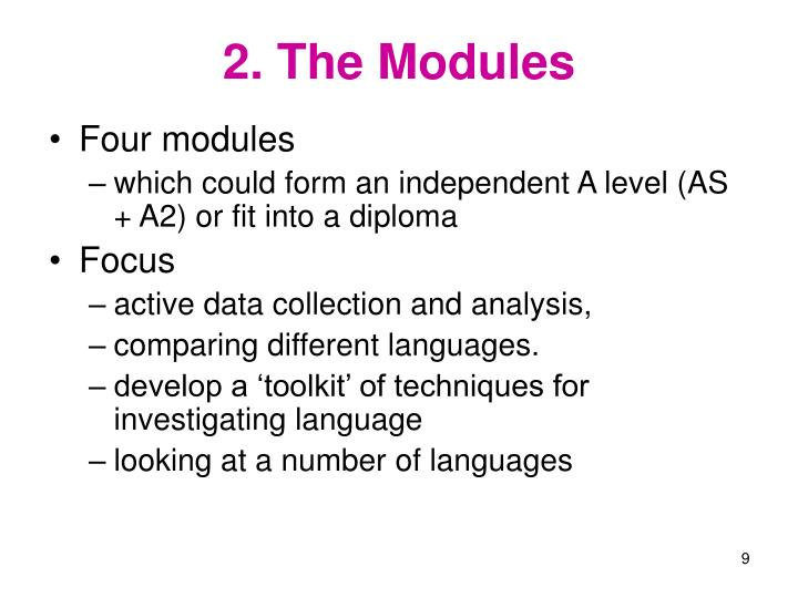 2. The Modules