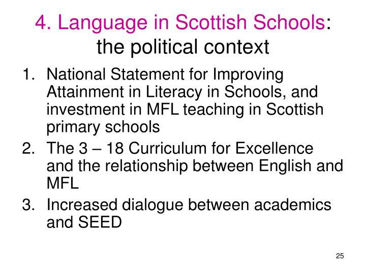 4. Language in Scottish Schools