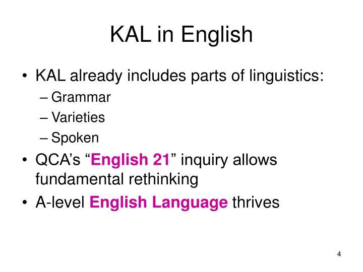 KAL in English