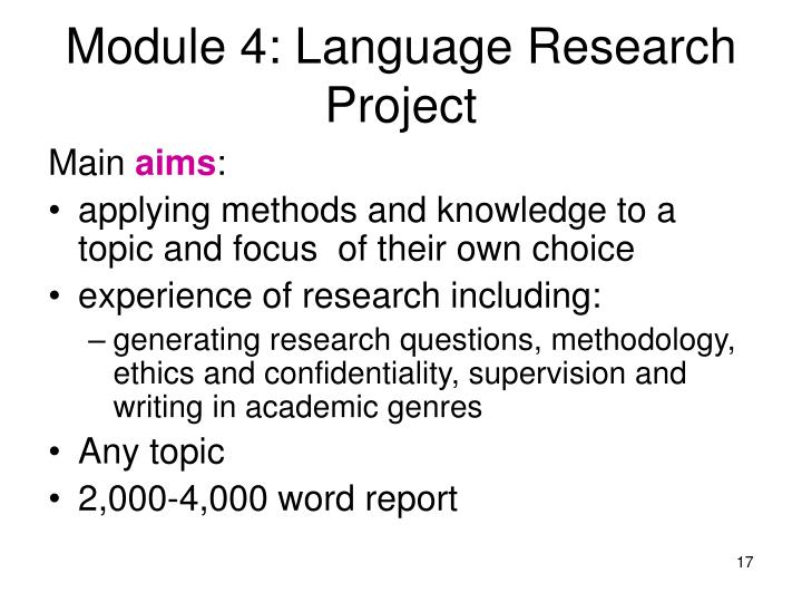 Module 4: Language Research Project