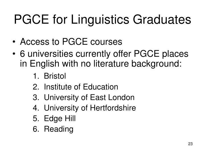PGCE for Linguistics Graduates