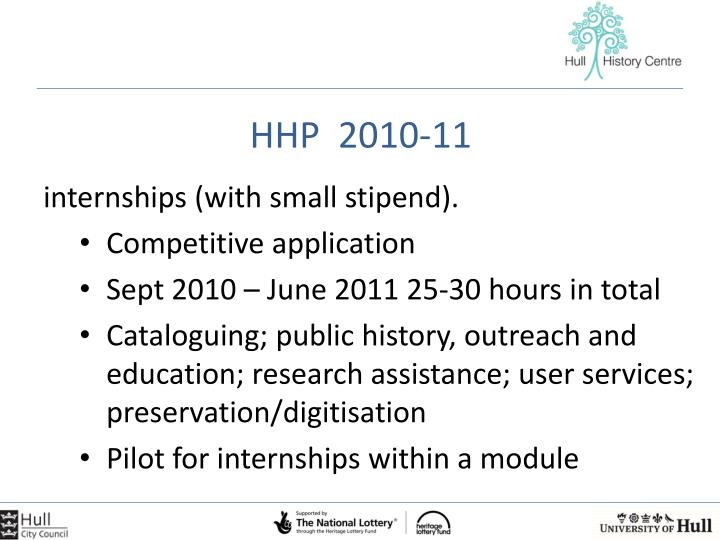 HHP  2010-11