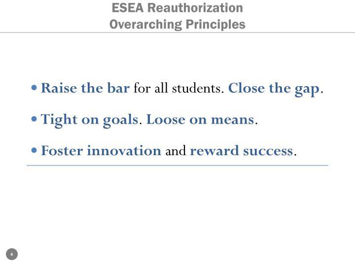 ESEA Reauthorization