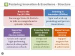 fostering innovation excellence structure