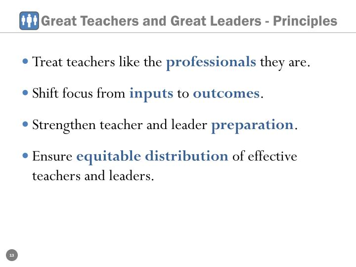 Great Teachers and Great Leaders - Principles