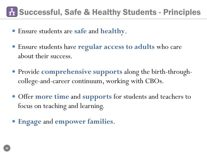 Successful, Safe & Healthy Students - Principles