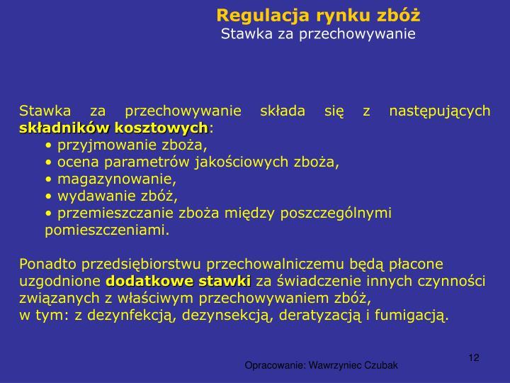 Regulacja rynku zbóż