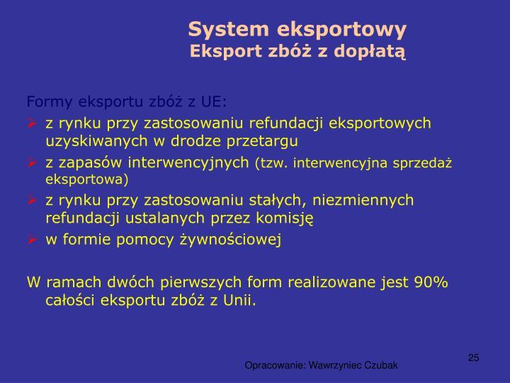 System eksportowy