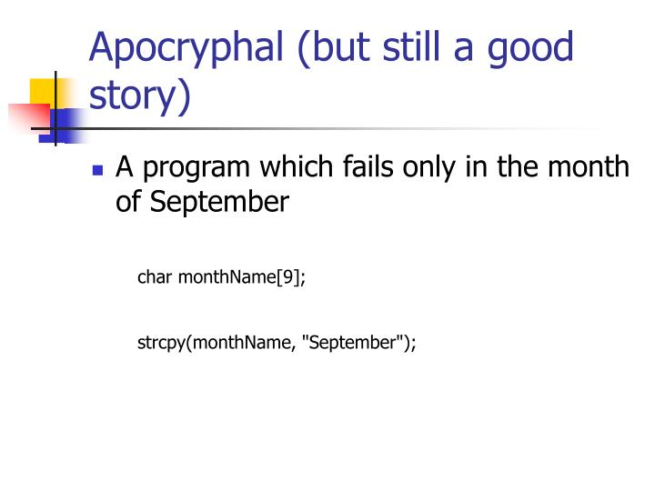 Apocryphal (but still a good story)