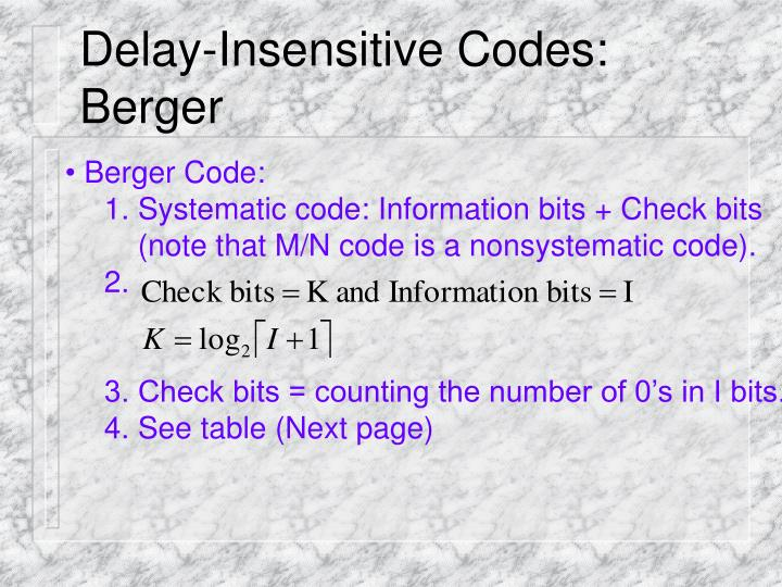Delay-Insensitive Codes: Berger