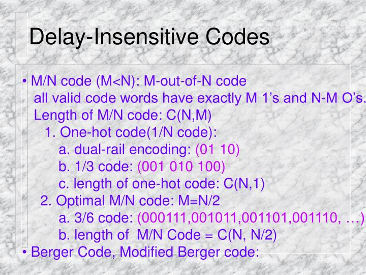 Delay-Insensitive Codes