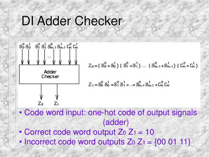 DI Adder Checker