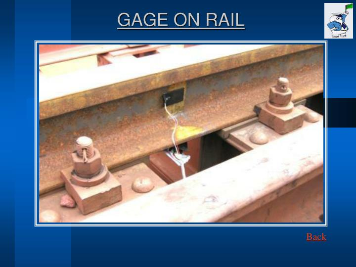 GAGE ON RAIL