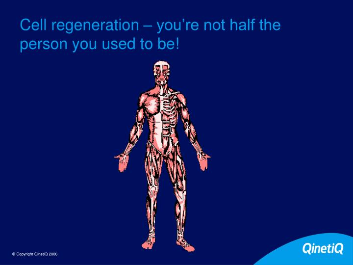 Cell regeneration – you're not half the person you used to be!