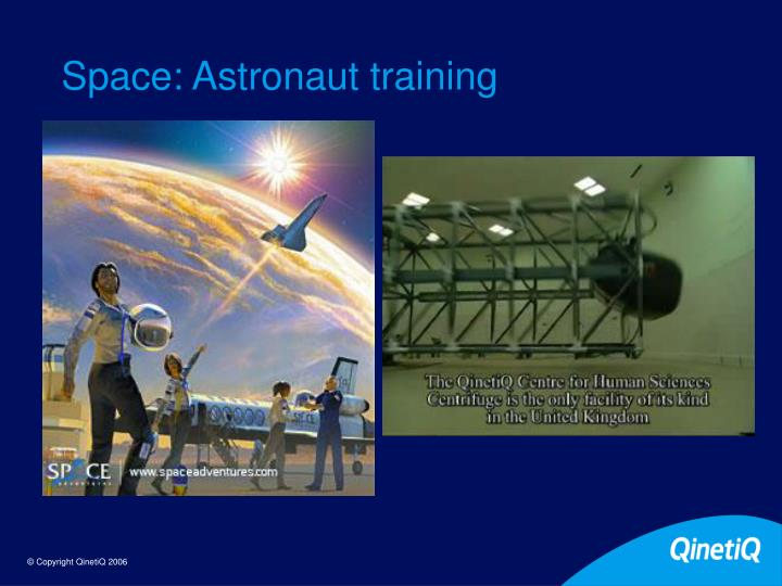 Space: Astronaut training